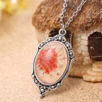 Jual Kalung gemstone kalung batu kalung unik Natural Dry Flower Small Red Murah
