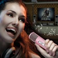 Jual Bluetooth Wireless Microphone Mini Portable Karaoke Speaker Smule Sing Murah