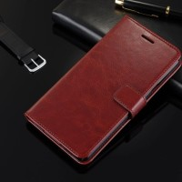 Leather Case Casing Kulit Flip Wallet Cover Samsung Galaxy A5 2017