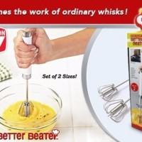 Jual termurah Better Beater Hand Mixer otomatis Manual harga 1 set 2pcs Murah