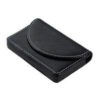 Black Leather Business Credit ID Card Holder Case Wallet (B)