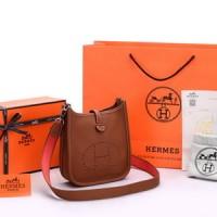 Tas Hermes Evelyne Mini TPM Clemence Coklat Camel SOC1044