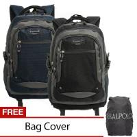 Real Polo Tas Ransel / Backpack 6312 [Gratis Bag Cover]