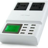 USB Multifunction Charger 8 Port , 2 Plug And Stop Kont B35 O162