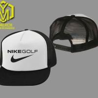 Topi Trucker Jaring Nike Golf Keren Pria  Wanita