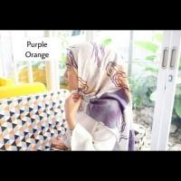 Hijab Modis Motif Purple Orange Murah