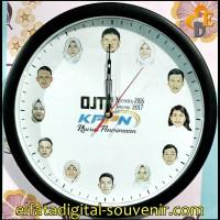 Souvenir & Hadiah Jam Dinding Custom Foto Gambar Logo Sendiri (JD-05)