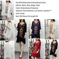 Jual HQ 19144 Bohemian Embroidered Dress Murah