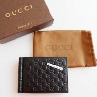 Gucci Small Symbol Money Dompet Clip Black Replica Mirror