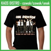 Jual Kaos One Direction - Where We Are Tour BU83 Oblong Distro Murah