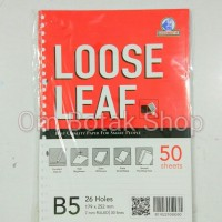 Loose Leaf B5 50 sheets - Locomotif Isi Kertas File 26 Ring Binder