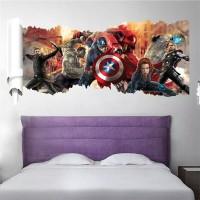 Avengers Wallsticker Wallpaper Sticker Dekorasi Dinding Thor Hulk