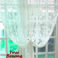 Jual Rumah Dapur Tirai Benang Motif Polkadot White (Tirai B Db Murah