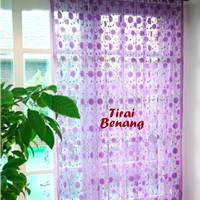Jual Home Tool Tirai Benang Motif Polkadot Purple (Tirai B Db Murah