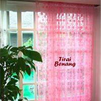 Jual Rumah Tangga Tirai Benang Motif Polkadot Softpink (Tirai B Db Murah