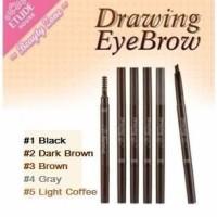 Jual DRAWING EYEBROW ETUDE House Eye Brow Brush Pensil Sikat Kuas Murah