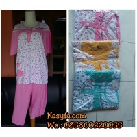 Grosir 3ps baju tidur wanita ukuran besar murah/Babydol jumbo amro ori