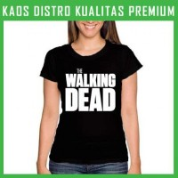 Jual Kaos The Walking Dead Logo 3 Wanita Cewek WNT-TWD03 Murah