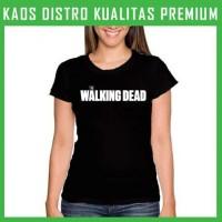 Jual Kaos The Walking Dead Logo 1 Wanita Cewek WNT-TWD01 Murah