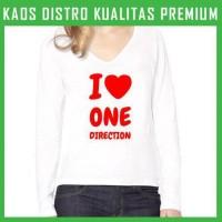 Jual Kaos One Direction Love 3 Wanita Cewek Lengan Panjang WLP-ODN03 Murah