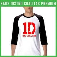 Jual Kaos One Direction Logo 7 Raglan RGL-ODN18 Murah