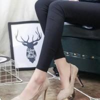  crs  Pumps Heels Monroe Nude Cream / Sepatu High Heels Wanita