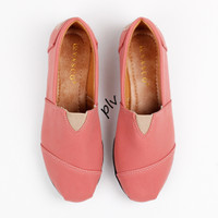 Jual Promo ! Sepatu Flat Shoes Flatshoes Murah ala Toms / Wakai - Salem Murah
