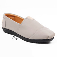 Jual Paling Laris Sepatu Flat Shoes Flatshoes Murah ala Toms / Wakai - Abu Murah