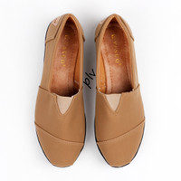 Jual Murah ! Sepatu Flat Shoes Flatshoes Murah ala Toms / Wakai - Camel Murah