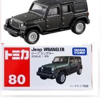 Jeep Wrangler no 80 Black Tomica Takara tomy