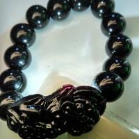 Jual MFFU Gelang Batu Giok Hitam Gelang Batu Black Jade Gelang Batu Akik 8 Murah