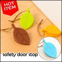 Jual Pengaman Penahan Penganjal Pintu Bentuk Daun Unik (Safety Door Stop) Murah
