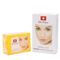 Jual Sabun Dr.Pure / Dr.Pure Beauty Whitening Soap / Vitamin C & E Murah