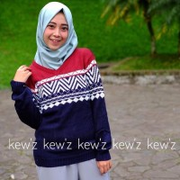 Jual Tunik / Baju Wanita / Baju Atasan / Sweater Columbus Navy Tribal Murah Murah