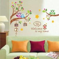 Jual XY1159 : Welcome Home - Wall sticker Lucu - Wallpaper Murah