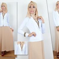 Pakaian Baju Wanita  Maxi Vina Set 3in1  Muslim Syari