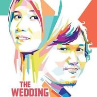 Jual Kado Pernikahan Unik Lukis WPAP Murah