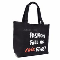 Jual EXLUSIVE Tas Wanita Tote Bag Fancy B 509 Kain Kanvas Aneka Motif EXLU Murah