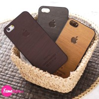 WOOD CASE CASING HP IPHONE 5/5S/5SE COVER KAYU