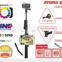 Jual ATTANTA SMP -22B Whit Phone Clip Tongsis/Monopod For GoPro,Xiaomi Yi Murah