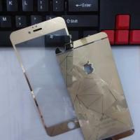 Jual TERMURAH IPhone 6 Plus/6S+ 3D Gold Tempered Glass Mirror Anti Gores K Murah