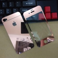 Jual TERMURAH Iphone 4/4S Rosegold Tempered Glass Mirror Anti Gores Kaca C Murah