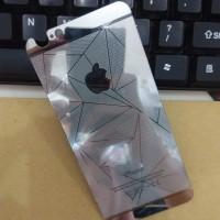 Jual TERMURAH IPhone 6/6S 3D Silver Tempered Glass Mirror Antigores Kaca S Murah