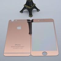 Jual TERMURAH Iphone 6 Plus/6S Plus Rosegold Tempered Glass Mirror Antigor Murah