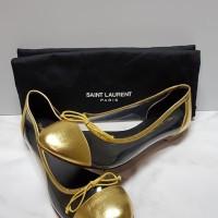 Jual Saint Laurent Classic Dance Ballerina Flat - Gold Murah