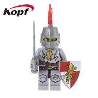 Lion Knight XH518 Kingdom Army Medieval Knight Castle Brick X0148