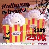 Jual HALLOWEEN TREAT popcorn Squishy Licensed pat pat zoo (ORIGINAL & SLOW) Murah