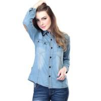 Jual Baju Kemeja Jeans Wanita Inflico 39 SPI 490 Murah
