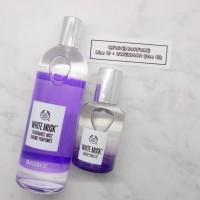 Paket NEW Body Mist & Parfum 30ml EDT Whitemusk Ungu Bodyshop Reject