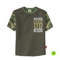 Jual Kaos Anak Laki laki model kaos army size M - L umur 4 tahun - 7 tahun Murah